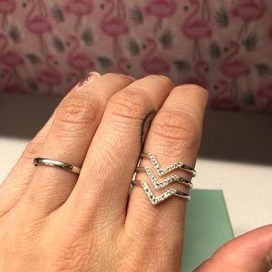Stella & Dot Adjustable silver Ring